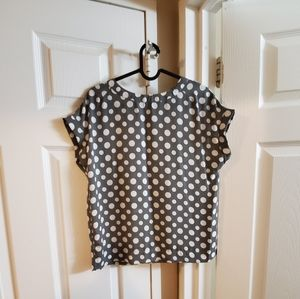 Grey polka dot shell blouse FROM NEXT UK